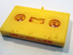 The Cassette in Yellow Processed Versatile Plastic