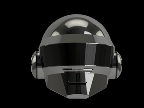 Daft Punk Thomas SMILEY helmet - 2mm wall in White Natural Versatile Plastic