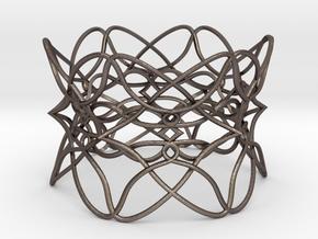 Bracelet the pattern in Polished Bronzed Silver Steel