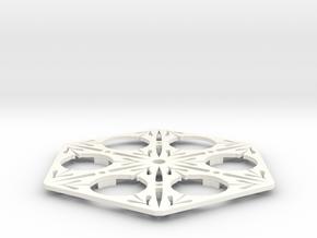 Coaster Oriental I in White Processed Versatile Plastic