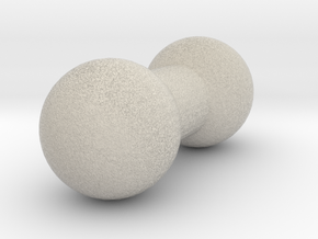 4mm Double Ball Joint in Natural Sandstone