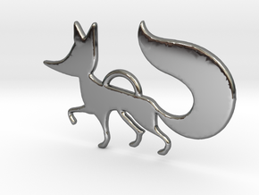 The little Fox in Fine Detail Polished Silver