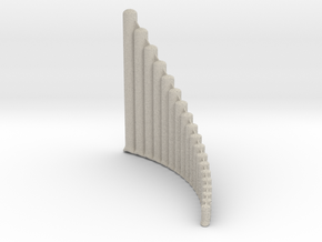 Ultra-lite Alto Panpipe, G1-G4 Right handed  in Natural Sandstone