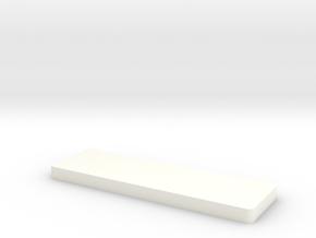 Bottom Layer Mold in White Processed Versatile Plastic