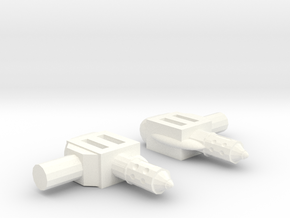 Superion Backpack Connectors in White Strong & Flexible Polished