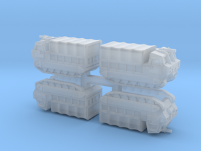 6mm M548 Tracked Carrier (4 Pcs) in Smooth Fine Detail Plastic
