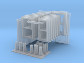 T022 3D Components V2 N Scale in Smooth Fine Detail Plastic