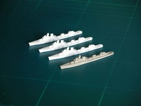 "Italian destroyer ""Soldati class"" x 4 - 1:1800 sc in White Natural Versatile Plastic"