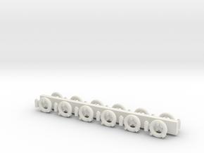 1:96 Life Rings - set of 12 in White Natural Versatile Plastic