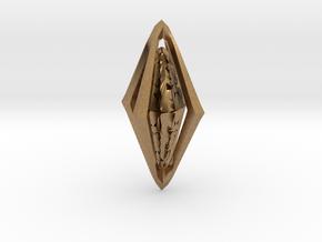 Rune Diamond in Natural Brass