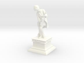 Mozart with Violin Mini Statue in White Processed Versatile Plastic