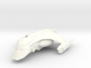 Romulan Shuttle in White Processed Versatile Plastic