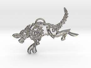 Sköll in Fine Detail Polished Silver