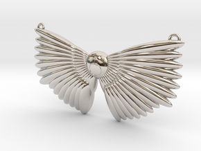 Winged Messenger Neckpiece in Rhodium Plated Brass