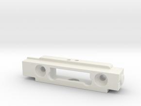 Greeble Block for ROTJ E-11 in White Natural Versatile Plastic