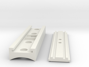 MHS compatible Starkiller Control Box(Xtra long) in White Natural Versatile Plastic
