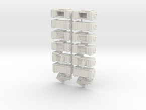 35mm - Ammo Boxes in White Strong & Flexible
