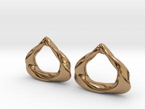Sculpted Open Teardrop  in Polished Brass