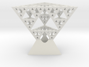Sierpinski tetrix lamp shade in White Natural Versatile Plastic