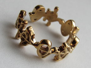 """""""Illogical"""" Vulcan Script Ring - Cut Style in Polished Bronze: 7.5 / 55.5"""