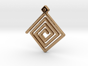 Spiral Pendant in Polished Brass