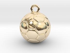Soccer Ball Earring in 14K Yellow Gold
