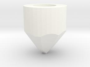 Saber pommel 4 in White Processed Versatile Plastic