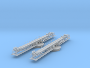 1/96 scale US Navy Catapult Set 2 Units in Frosted Ultra Detail