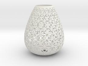 Lampshade Holder in White Natural Versatile Plastic