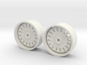 1/64 8830 Ford tractor rear wheels in White Natural Versatile Plastic