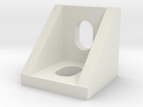 V-Slot 90 Degree Corner in White Natural Versatile Plastic