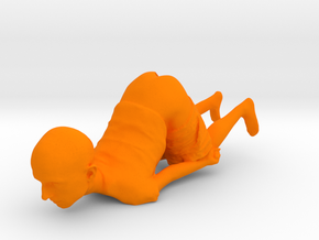 Funny 3d Penholder in Orange Processed Versatile Plastic