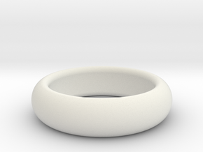 custom made  request Plain Ring size11 20.2mm in White Natural Versatile Plastic