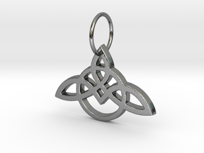 Celtic Knot Pendant in Fine Detail Polished Silver