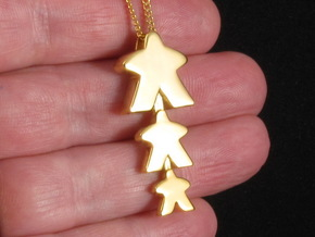 "Meeple Pendant ""threeple"" in 18k Gold Plated Brass"