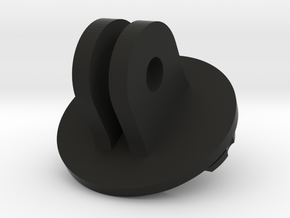 Garmin Edge Quarter Turn Male Mount To GoPro Male  in Black Strong & Flexible