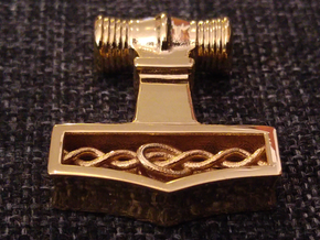Mjölnir - Thor's hammer in 18k Gold Plated Brass