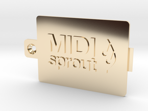 MIDI Sprout Battery Door 002a in 14K Yellow Gold