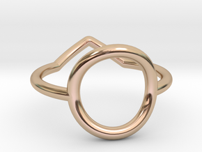 Cercle And Triangle Size SMALL (L - 51 3/4) in 14k Rose Gold Plated Brass