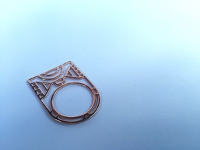 Screaming Warrior One RING - 5 3/8 in 14k Rose Gold Plated Brass