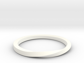 Half Twist Band size 6 in White Processed Versatile Plastic