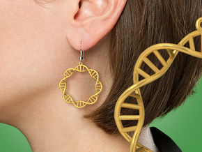 Earring DNA in 14k Gold Plated Brass