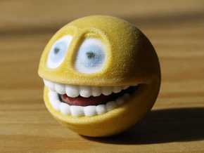 Emoji Smiley Face - Smile (small) in Full Color Sandstone