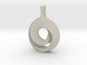 Möbius pendant in Natural Sandstone: Large