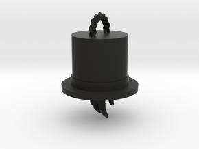 Magician's Hat Pendant in Black Natural Versatile Plastic