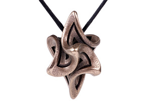 Flame Alpha Pendant in Polished Bronze Steel
