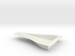 "NACA Intake Duct - 0.035"" panel, 7 x 4 x 1 Inch in White Strong & Flexible"