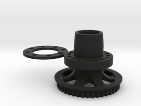 M3R16 Rear Hub - One Piece Inc. GRP Offset Spacer in Black Natural Versatile Plastic