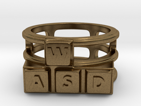 WASD Ring in Natural Bronze: 8 / 56.75