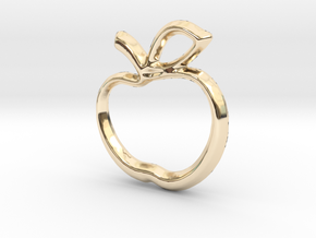 Apple Charm - 11mm in 14K Yellow Gold